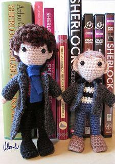 Sherlock and Watson Amigurumi! #Sherlock #BBC