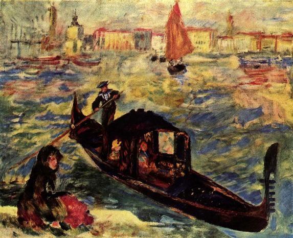 Пьер Огюст Ренуар Гондола на Большом канале в Венеции 1881 г.