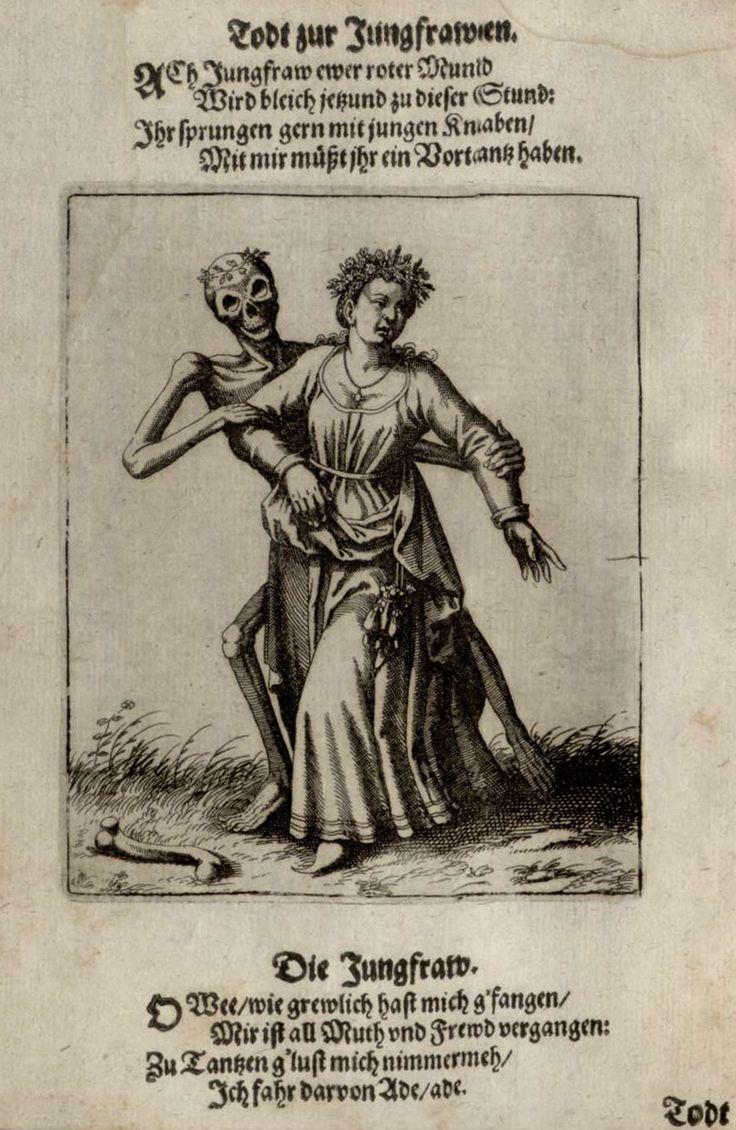 La danse macabre du Grand-Bâle - La Pucelle (Merian - 1621)