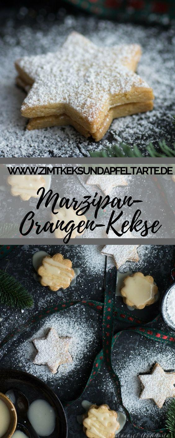 Lecker und einfach selber backen: meine gefüllten Orangen-Marzpan-Kekse sind einfach und super lecker und passen auf jeden Plätzchen-Teller in der Weihnachts- und Adventszeit