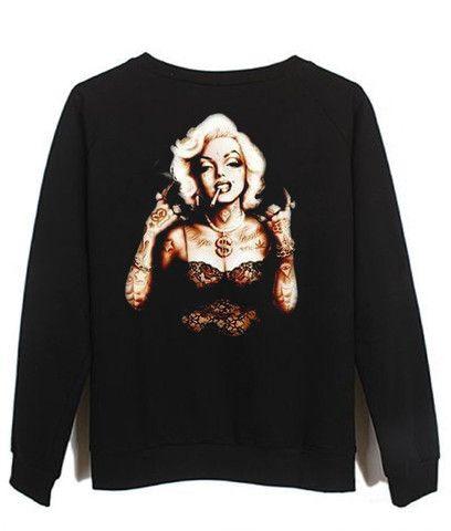 marlyn monroe #sweatshirt #shirt #sweater #womenclothing #menclothing #unisexclothing #clothing #tops