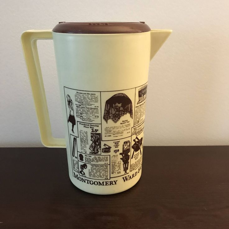 Excited to share the latest addition to my #etsy shop: Montgomery Ward Advertising Pitcher http://etsy.me/2CoKyor #vintage #collectibles #beige #brown #montgomeryward #advertising #pitcher #collectible #plastic