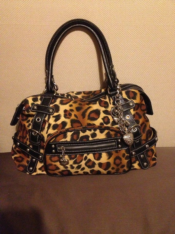 Kathy Van Zeeland bag , used twice, $35,will throw in a matching leopard wallet I had bought to go w/it....it is a no brand wallet