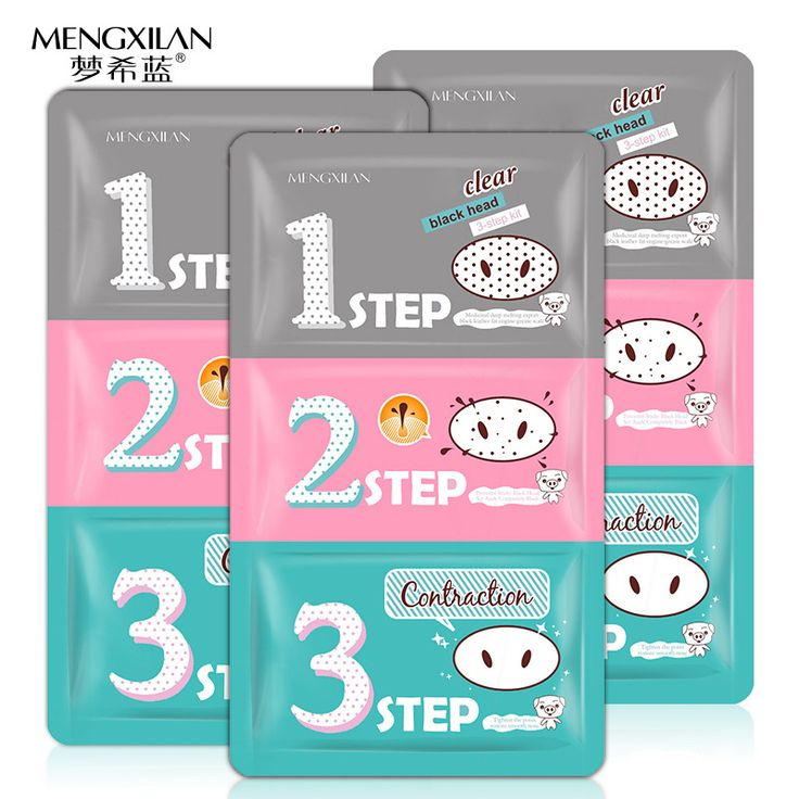 5 pack 3 Step Remove Blackhead Kits To Shrink Clean Pores Nose Strips for Female/Male T Zone Care Set mascara preta cravos acne