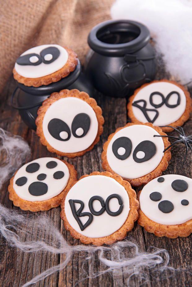 Schnelle #Halloween-Kekse mit Marzipan #nomnom