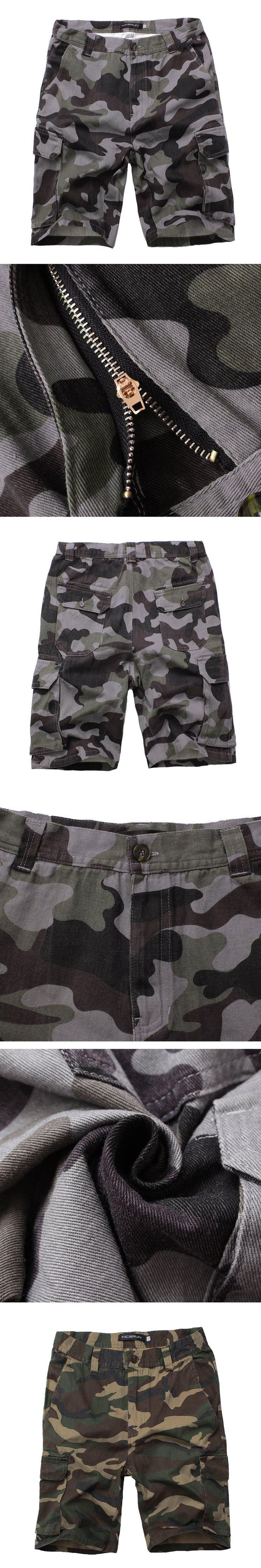 Camouflage Camo Cargo Shorts Men Fashion Casual Shorts Male Loose Work Shorts Man Military Tactical Short Trousers Plus Size 44