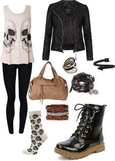 """Punk Chic"" by dewdrop98 ❤ liked on Polyvore"