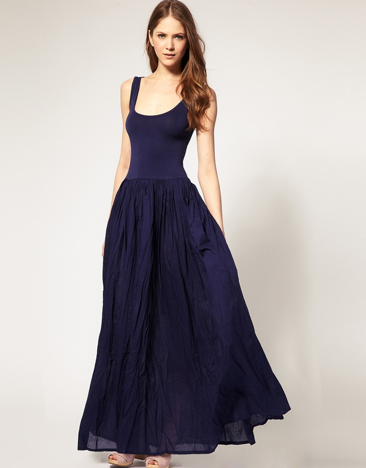 30 best i 39 m not into fashion but images on pinterest for Navy maxi dresses for weddings