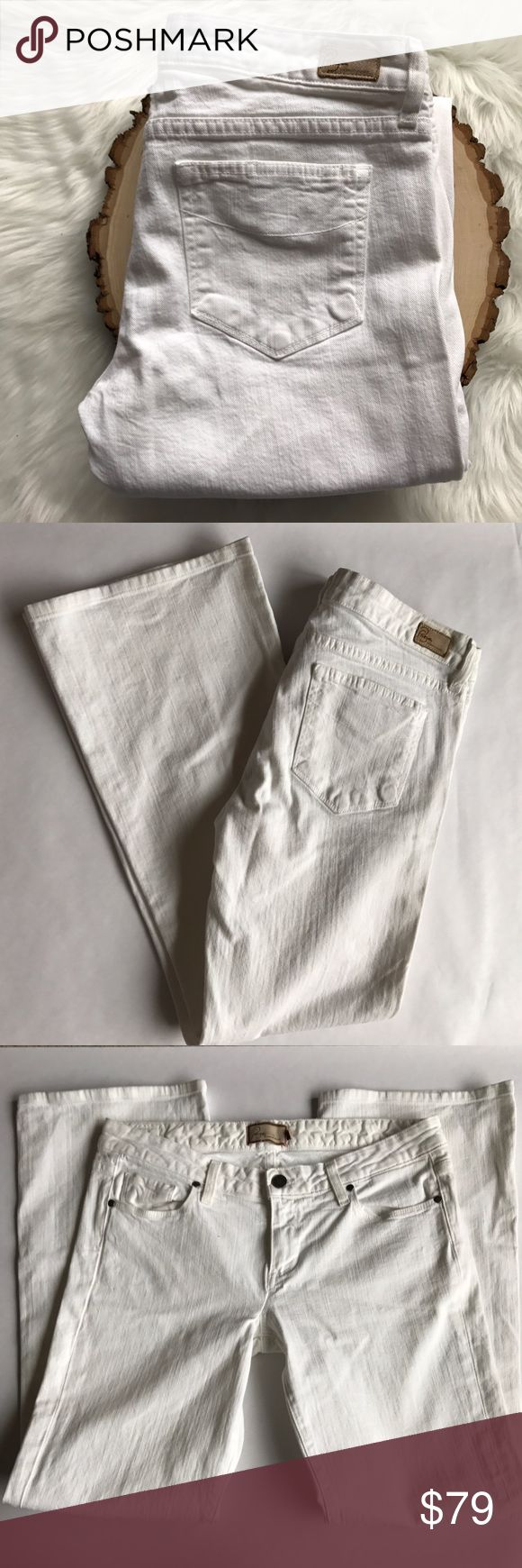 Paige Premium Laurel Canyon Low Rise Boot Cut Five pocket, zip fly jeans. 98% Cotton / 2% spandex. EUC Paige Jeans Jeans Boot Cut