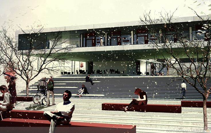 Student Center & Public Square Architectural Competition proposal by Onat Öktem & Ziya Imren