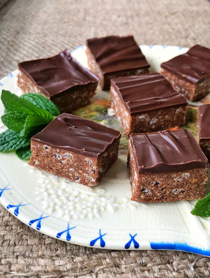 Quick And Easy No Bake Dark Chocolate Peppermint Slice By Vj Cooks Recipe Peppermint Slice Rice Bubbles Rice Bubble Cake