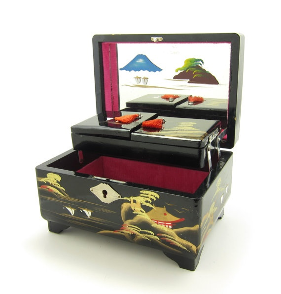Antique Japanese Jewelry Music Box Best 2000 Antique decor ideas