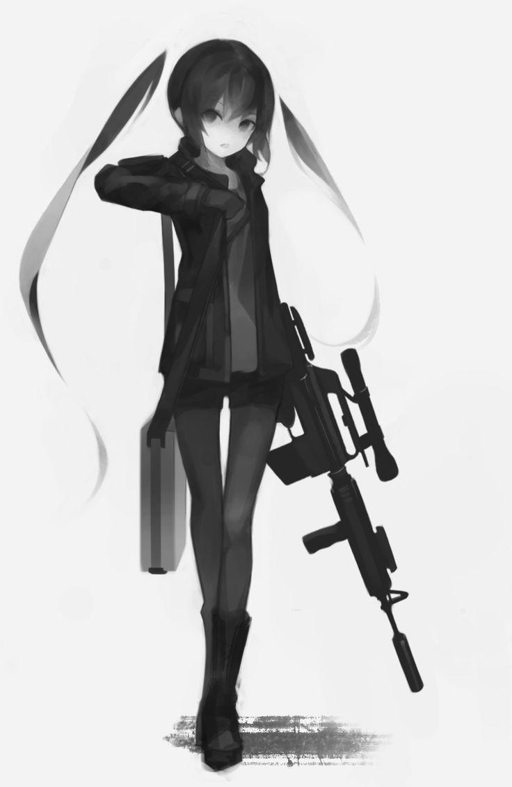 Картинки аниме девушек с пистолетами