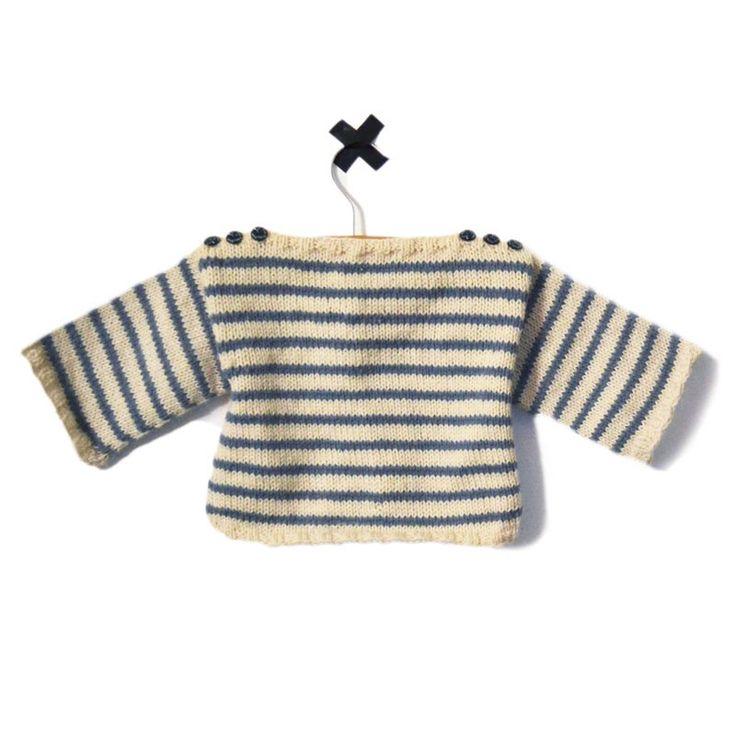 Modèle à tricoter marinière Augustin bébé