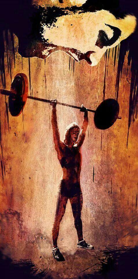 Crossfit Art Fit Weightloss Wod Workout Motivation Squat