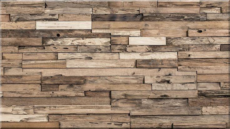 Indusztriális, loft falburkolat bontott faanyagokból