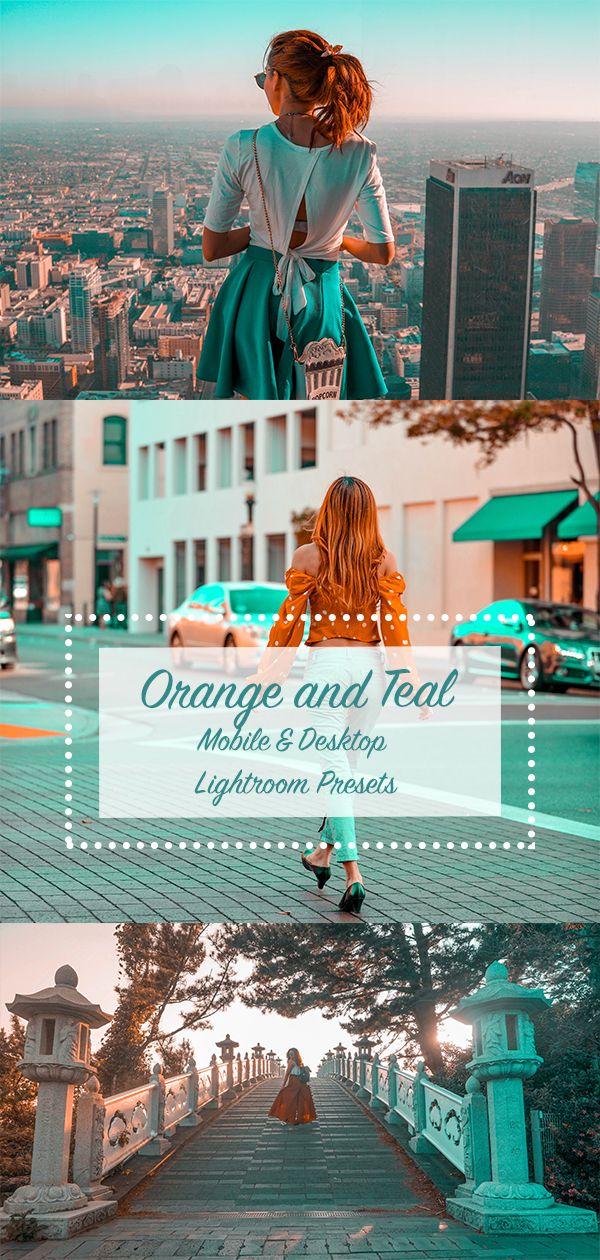 Orange And Teal Lightroom Mobile And Desktop Presets She Will Spill Lightroom Presets Portrait Lightroom Presets Lightroom
