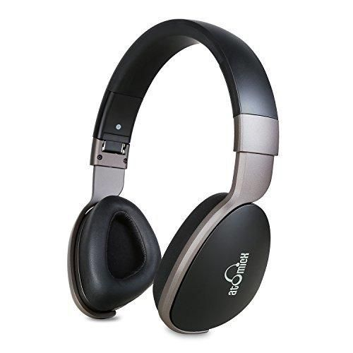 Bluetooth Headphones iDeaUSA Wireless Headphones with Mic Over Ear Headphones 20 Hours Playback Passive Noise Cancelling Headphones for TV Smartphones PC Laptop - Black/Grey
