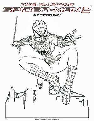 The Amazing Spider-man 2 coloring sheets  Movies, DVDs ...