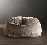 Grand Luxe Faux Fur Bean Bag Chair - Lynx | Bean Bags | Restoration Hardware