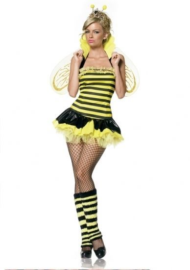 Adult Queen Bumble Bee Costume XS S/M M/L with Wings & Warmers fnt #LegAvenue #BumbleBee