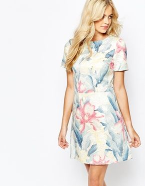 Oasis - Robe droite à imprimé floral