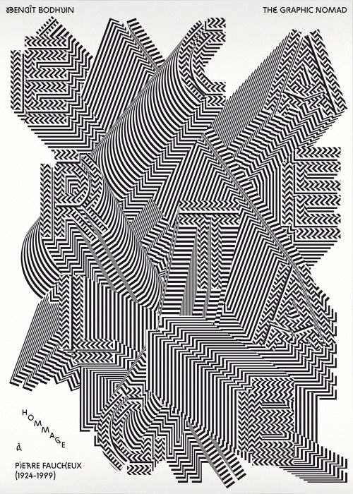 """Hommage à Pierre Faucheux"" — A tribute to Pierre Faucheux with Mathieu Cieters. - typography - graphic - design"