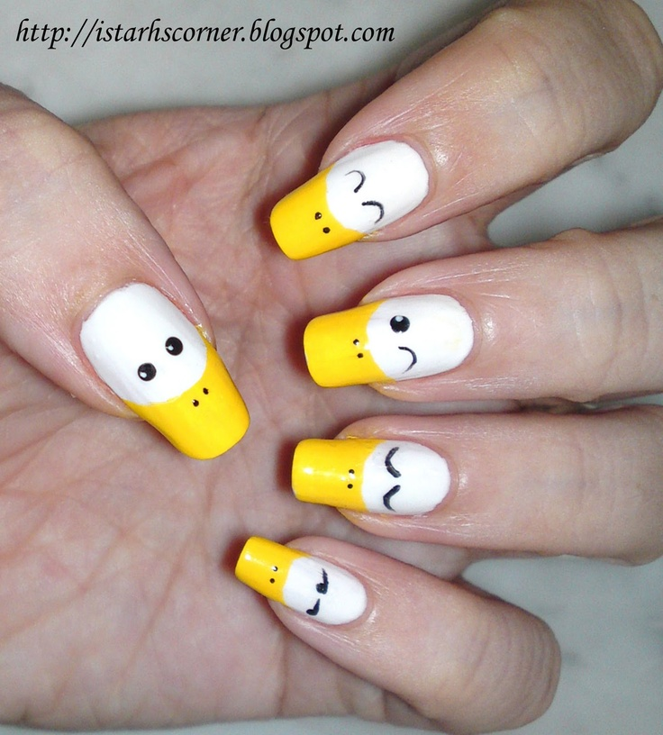 Cute Duck Nails...might have to try this one for the baby shower..:-P