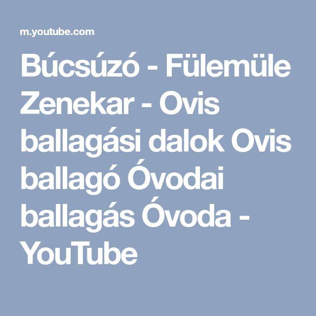 Búcsúzó - Fülemüle Zenekar - Ovis ballagási dalok Ovis ballagó Óvodai ballagás Óvoda - YouTube
