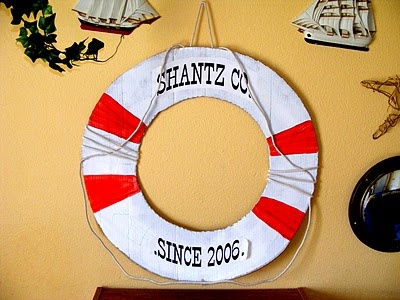 nautical cardboard sign decoration #cardboard #ocean #sea