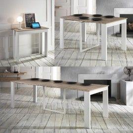 Tavolo Consolle Bianco/Rovere