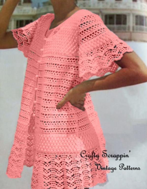 Fantastic Knit Beach Cover Up Pattern Composition Easy Scarf