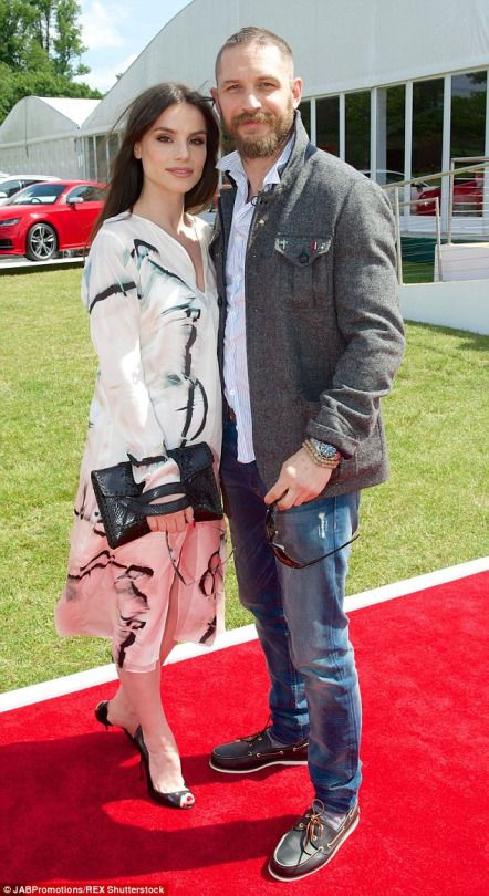 Tom Hardy and Charlotte Riley at the Audi Polo Challenge at Coworth Park in Ascot, on May 30, 2015.