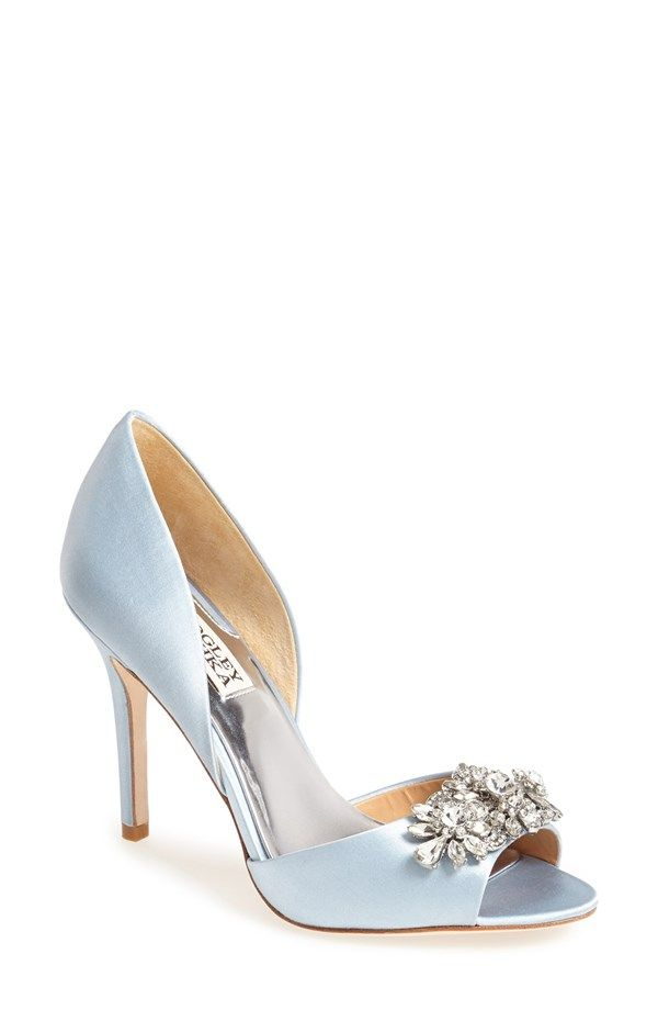 These bejeweled Badgley Mischka's would be perfect for your something blue