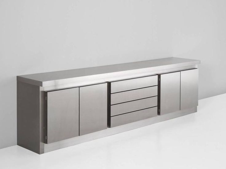 Lodovico Acerbis Stainless Steel Sideboard For Acerbis