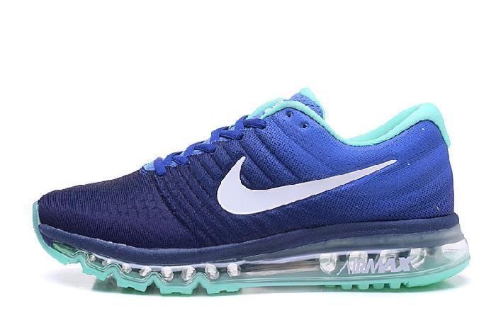Best Nike Air Max 2017 Royal Blue Jade Running Sports Sneakers Sale Hot - $69.89