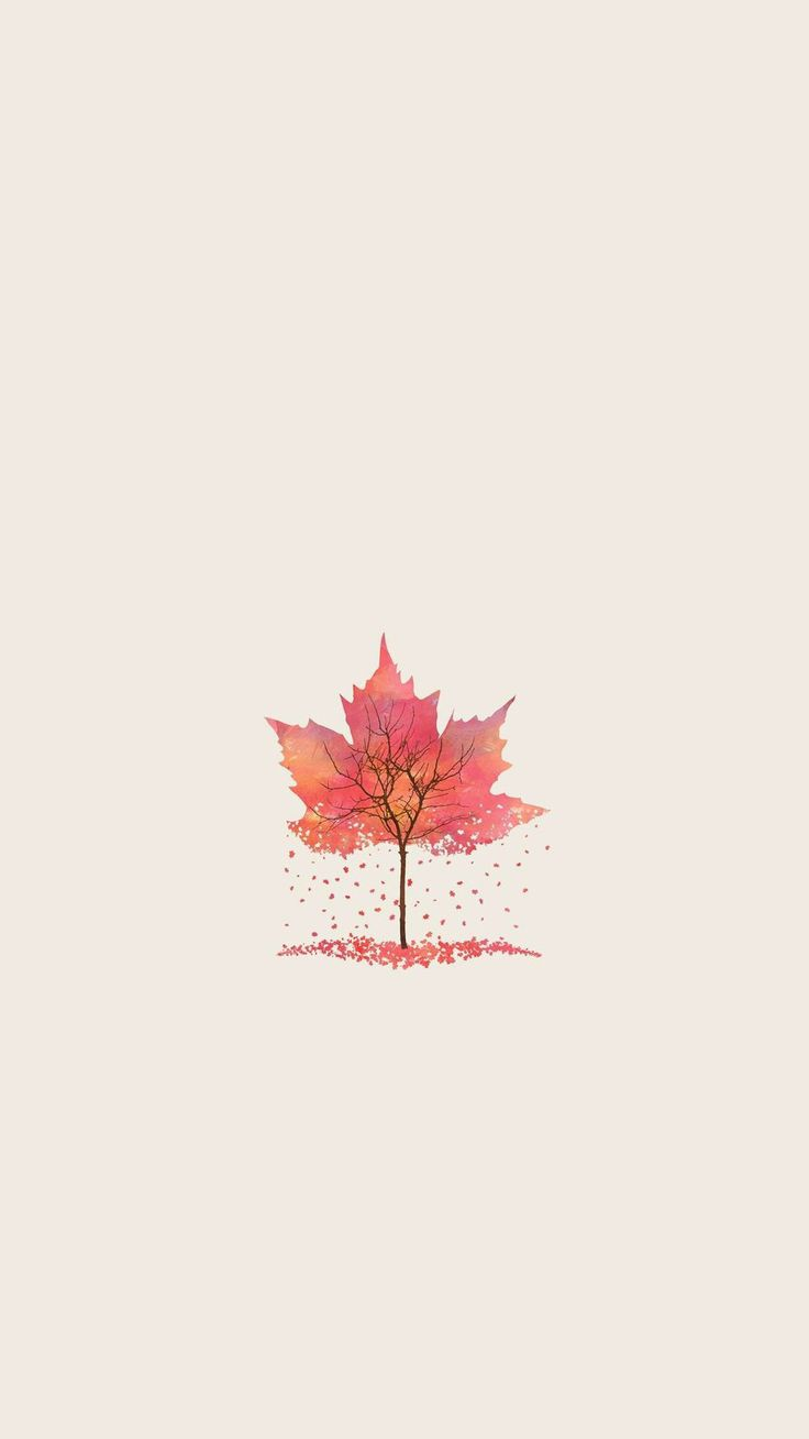 Download Autumn Tree Leaf Shape Illustration iPhone 6+ HD Wallpaper