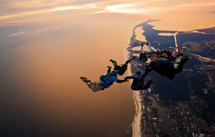 Sky Diving over Los Angeles, CA during sunset - now that would be an incredible place and time to sky dive!!