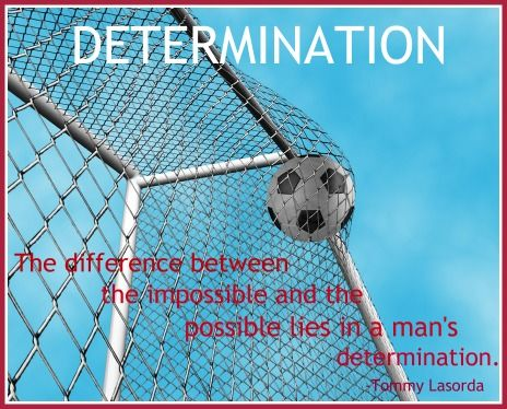 Not sure why Tommy's quote is with a soccer pic . . . but the words are true.
