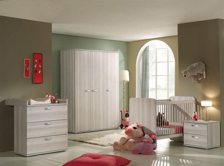 Pepper Kinderzimmer mit breiter Wickelkommode und mit 2-türigem - pinolino babyzimmer design