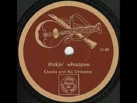 Makin' Whoopee (Propaganda version) German Nazi Propaganda - Charlie and His Orchestra was a Nazi sponsored swing band that reworked popular jazz songs that were then broadcast via radio into major Allied cities. These songs emphasized the inevitable victory of the Germans, the fault of the Jews, and mockery of Allied efforts. Truly a fascinating bit of  history.