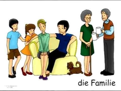 German Family Vocabulary Flashcards - Die Familie - Signalkarten und Bildkarten in Deutsch - YouTube