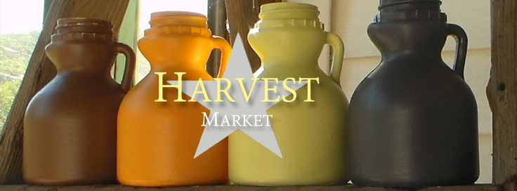 Cocoa Cafe, Harvest Orange, Butter Cream and Graphite complete the Harvest Market set from Vermont Chalky Paint.