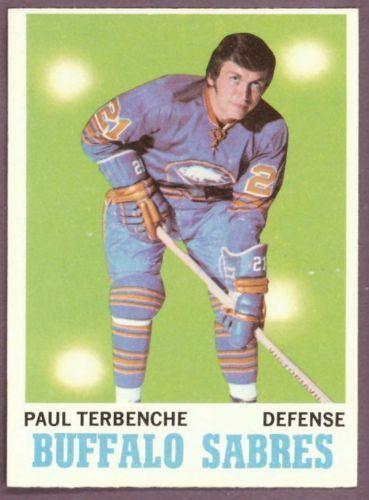 1970 71 Topps 123 PAUL TERBENCHE NM BUFFALO SABRES HOCKEY CARD #BuffaloSabres