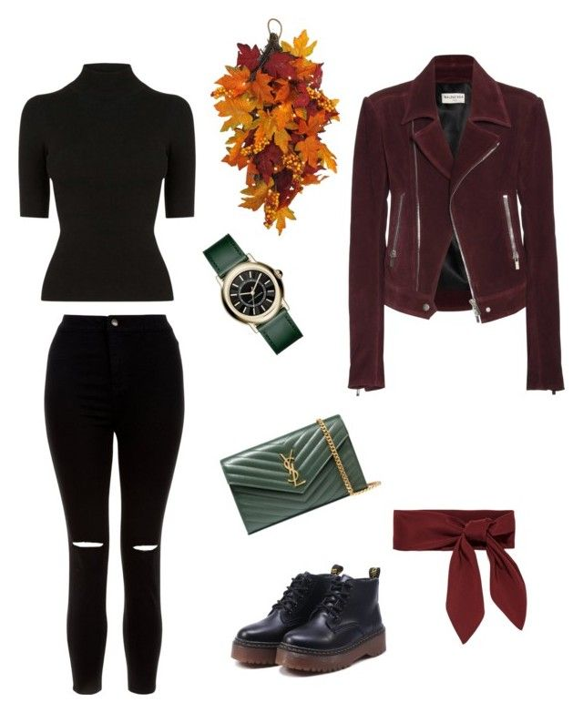 """""""FALL OUTUFIT"""" by juliapedersen0 on Polyvore featuring Balenciaga, Oasis, New Look, WALL, Yves Saint Laurent, Chloé and Marc Jacobs"""