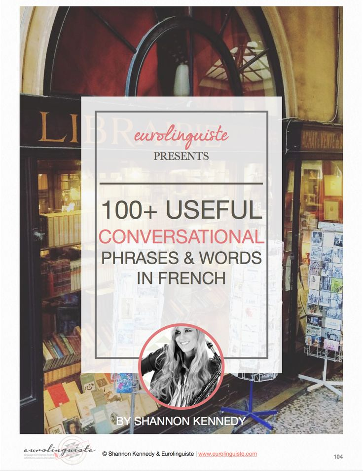 100+ Useful Conversational Words & Phrases in French