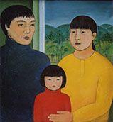 "Indira Baldano - ""Семья"". 1994 г. Холст, масло. 130x100 см."