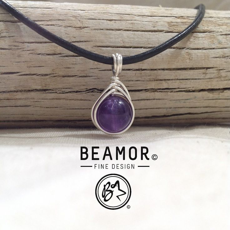 Amethyst, beautiful and calming. Enhancing intuition and protective. Here in a Herringbone weave pendant. #amethyst #gemstonejewelry #bohostyle #purple #etsystore #beamorfinedesign #findamaker