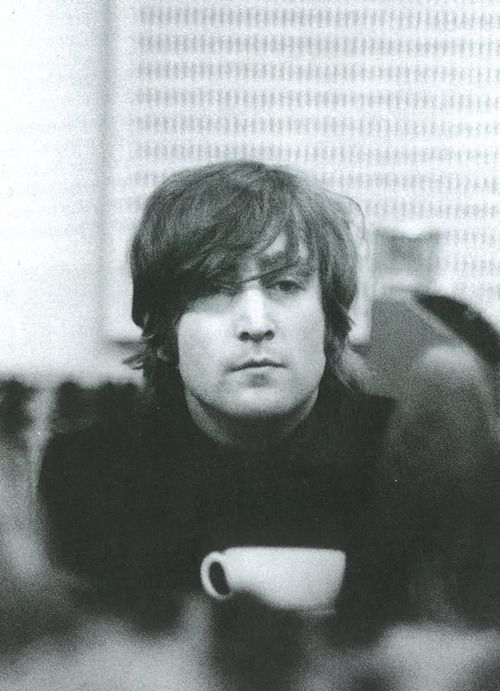 <3 <3 John Lennon & Coffee!! <3 <3  This may be the only thing sweeter than James Dean & Coffee