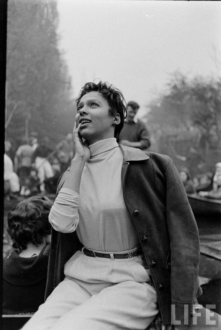 "electronicsquid: ""Dorothy Dandridge in Oxford for May Morning (Carl Mydans. 1956) """